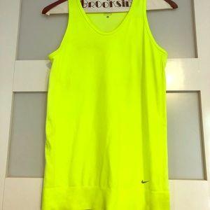 Women's Nike Dri-Fit Tank Top - Size S - Yellow